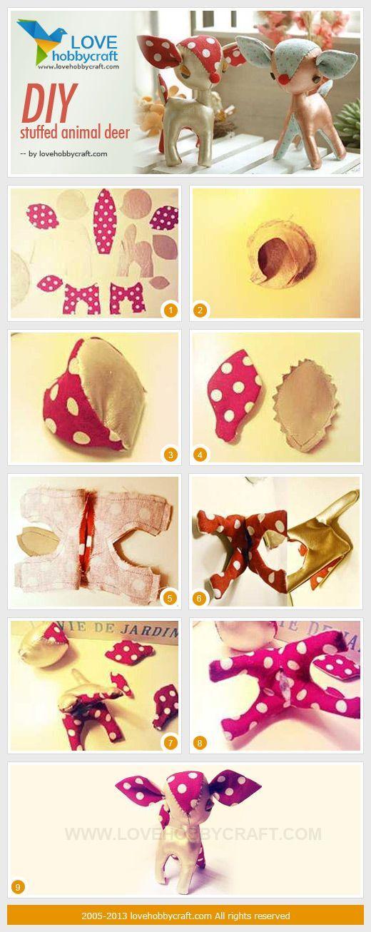 DIY stuffed animal | http://stuffedanimals243.blogspot.com  Make a little Rudolph for the holidays