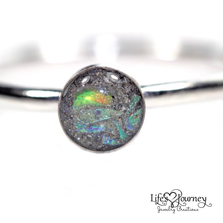 Ashes stacking ring with sparkles; keepsake ring; cremation ring; cremation jewelry; https://www.lifesjourneyjewelrycreations.com
