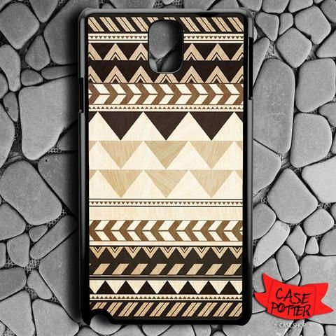 Aztec Pattern Art Wood Samsung Galaxy Note 3 Black Case