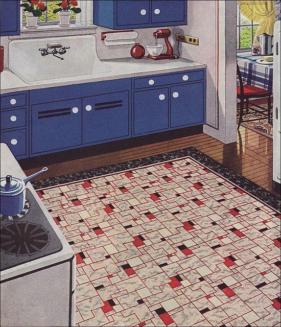 Retro Linoleum Kitchen Flooring: 115 Best Images About Old Kitchens On Pinterest