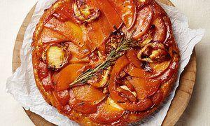 Butternut, goat's cheese and rosemary tatin