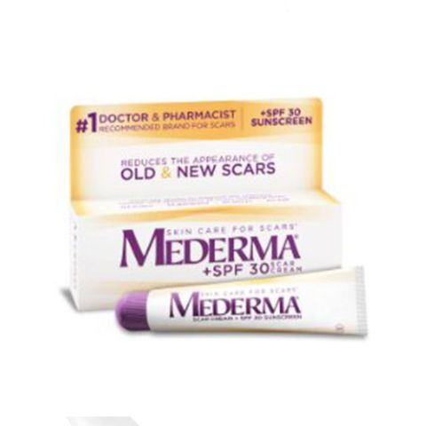 $20 BUY NOW Acne scars develop as a result of recurring inflamation, and sun exposure doesn't help the cause. Protect scars with a swipe of Mederma's cult-favorite cream. It's infused with SPF 30 to shade UV rays and  soften the appearance of red splotches.