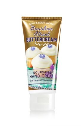 Bourbon Street Buttercream - Nourishing Hand Cream - Bath & Body Works - Moisturizing Shea Butter & Vitamin E absorb quickly to leave hands feeling soft, smooth, luxuriously nourished and lightly scented.