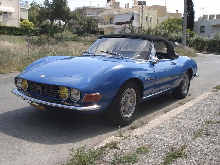 Fiat Dino Spider also know this car as Morini /based from 124 special T /disc brake all over ,5shift ok hard to lock on ,twin camshaft overhead /car of the year 1968 I think...