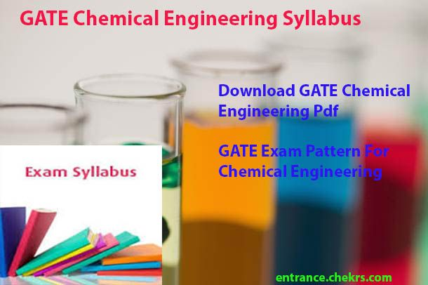 Graduate Aptitude Test Engineering 2018 Syllabus for Chemical Engineering Pdf Download GATE Exam Pattern