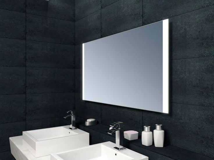 Bathroom mirror heated