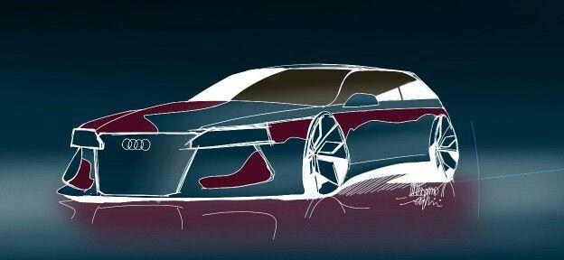 Audi design. Audi concept. car design. Audi shooting brake. AUDI 2015. 《~Massimo Seraini~》car sketck. SketchBook Galaxy