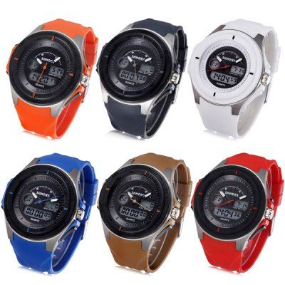 Shhors 807 Jiangyuyan <b>Military</b> LED Watch Dual Movt Water ...