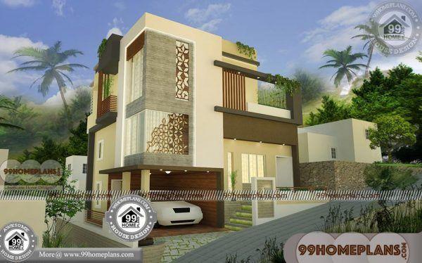 3 Floor House Elevation Designs With Exterior Interior Plan