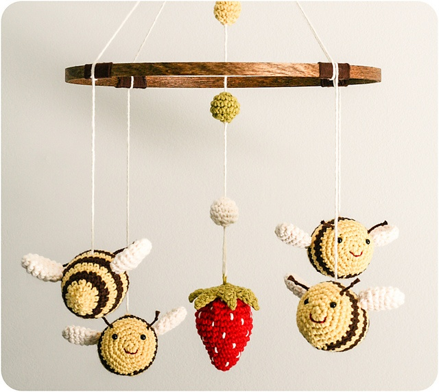 """The """"Bee's Mobile"""" by Kendra Kat...pattern available to buy."""