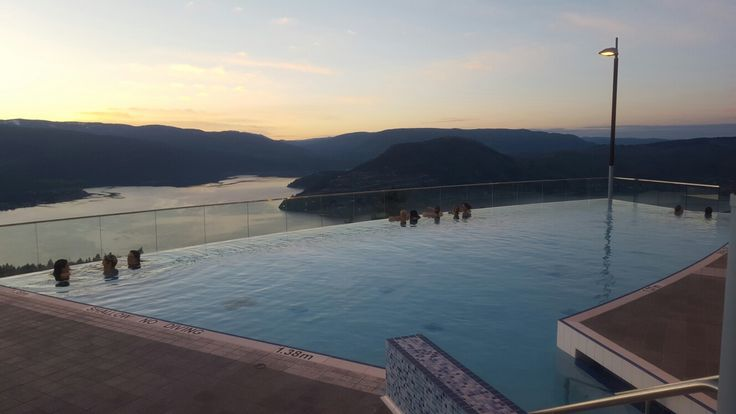 Infinity pool with a view! (Kurspa, Sparkling Hill Resort, Vernon, B.C)