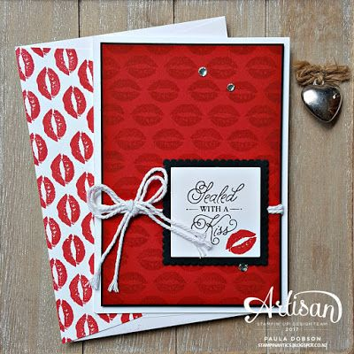 Paula Dobson - Stampinantics: SEALED WITH LOVE - STAMPIN' UP! ARTISAN BLOG HOP.  Sealed with a Kiss projects featuring the Sealed with Love stamp set and Love Notes Framelit Dies.  Click on the picture to take the Artisan Blog Hop and see more of Paula's projects. #pauladobson #stampinantics #suartisandesignteam #sealedwithlove