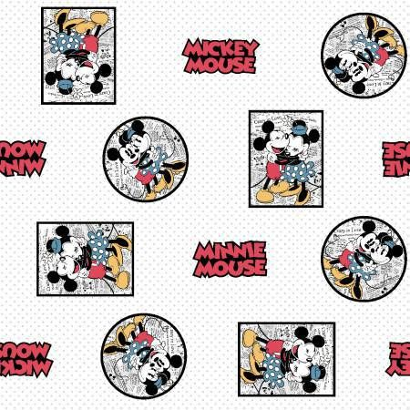 mickey mouse, minnie mouse, framed, newspaper
