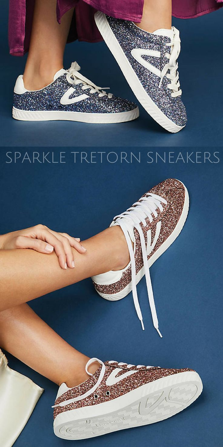 Sparkly glittery tretorn sneakers