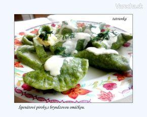 Špenátové pirohy s bryndzovou omáčkou (fotorecept)