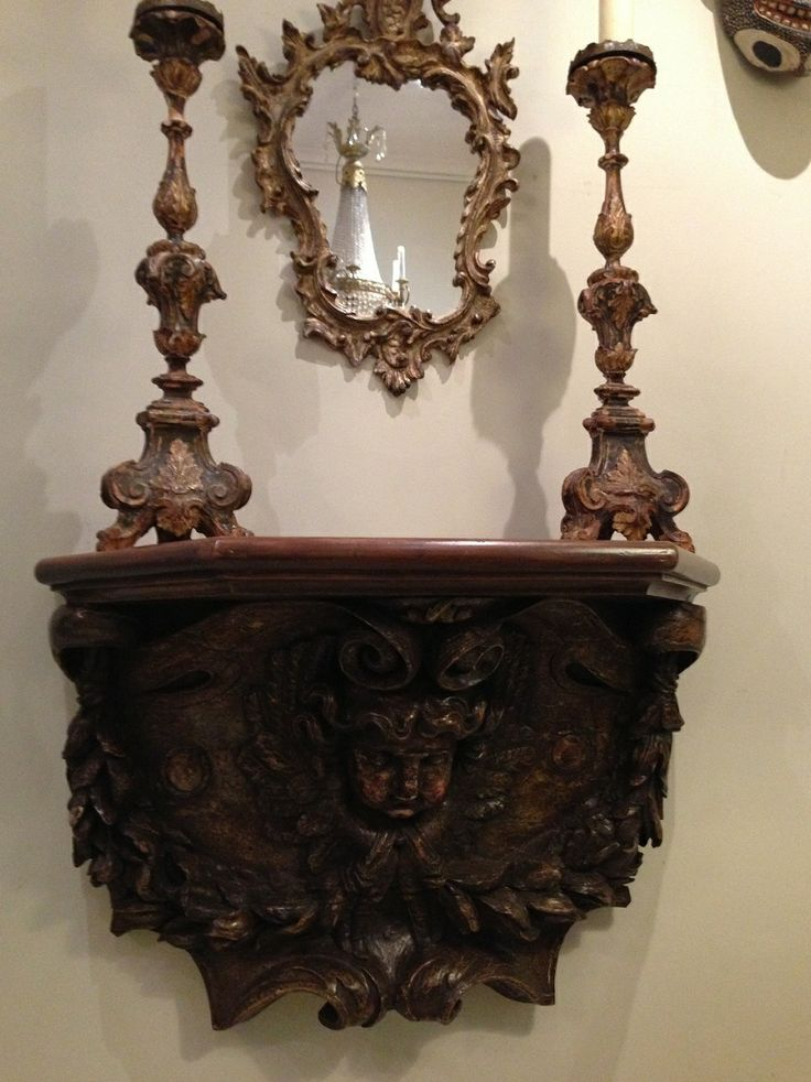 18th Century French Carved Painted Console