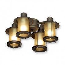 FL450 Rustic Ceiling Fan Light Kit - Antique Bronze