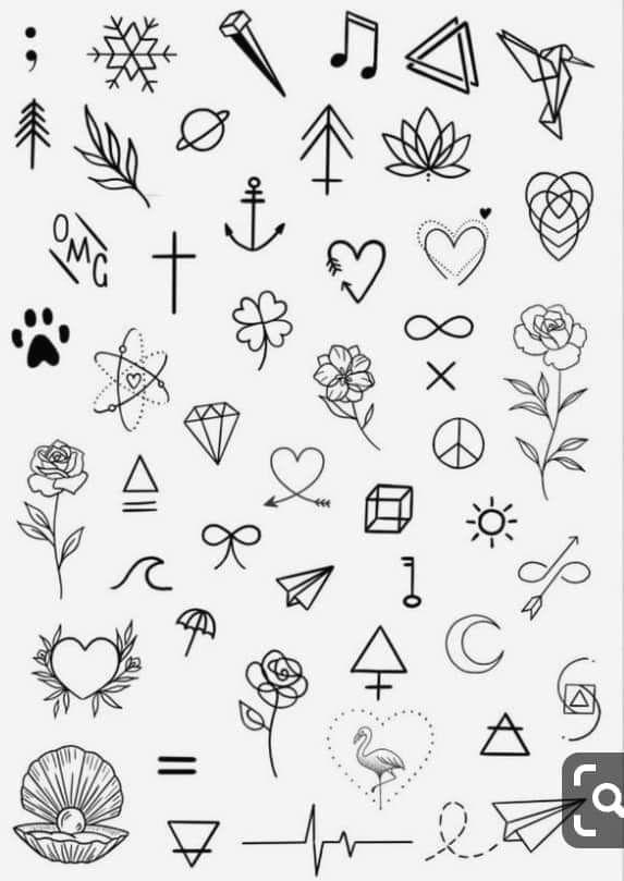 Minimalist Simple Flower Circle Tattoo: Minimalist Tattoo Designs