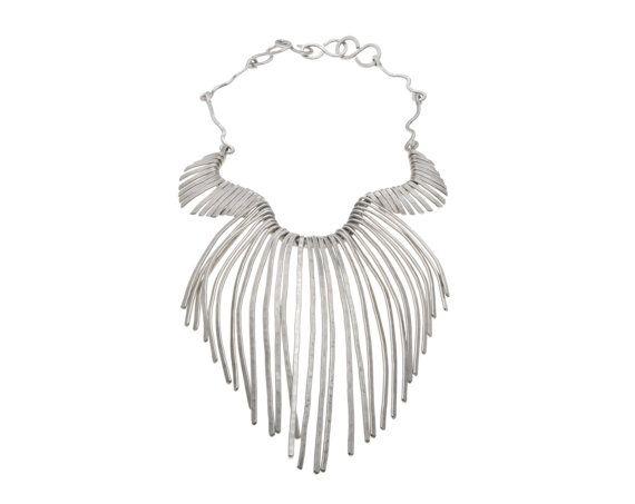 Wedding Bridal Necklace, Silver Statement necklace by SidKassidy www.sidkassidy.com #statement necklace
