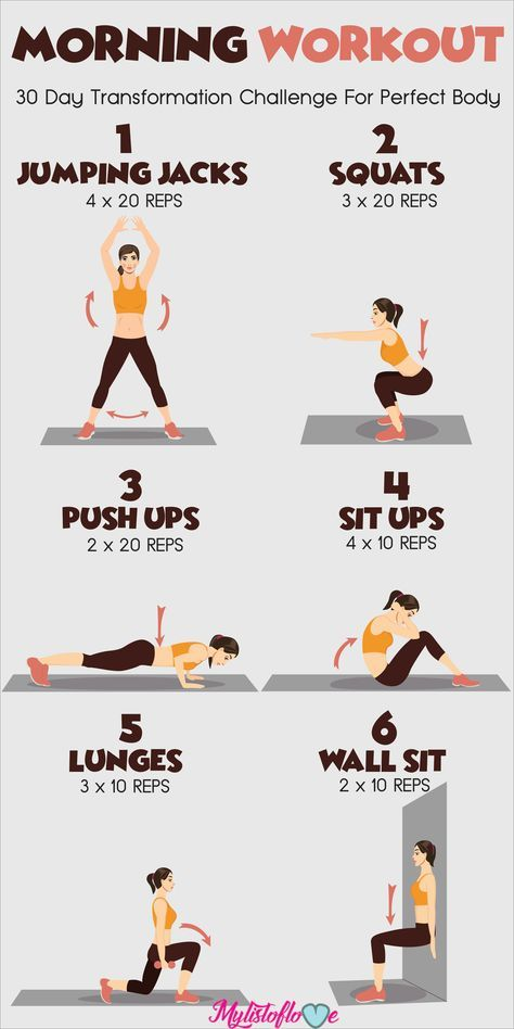 30 Days Morning Workout Challenge For Perfect Body...
