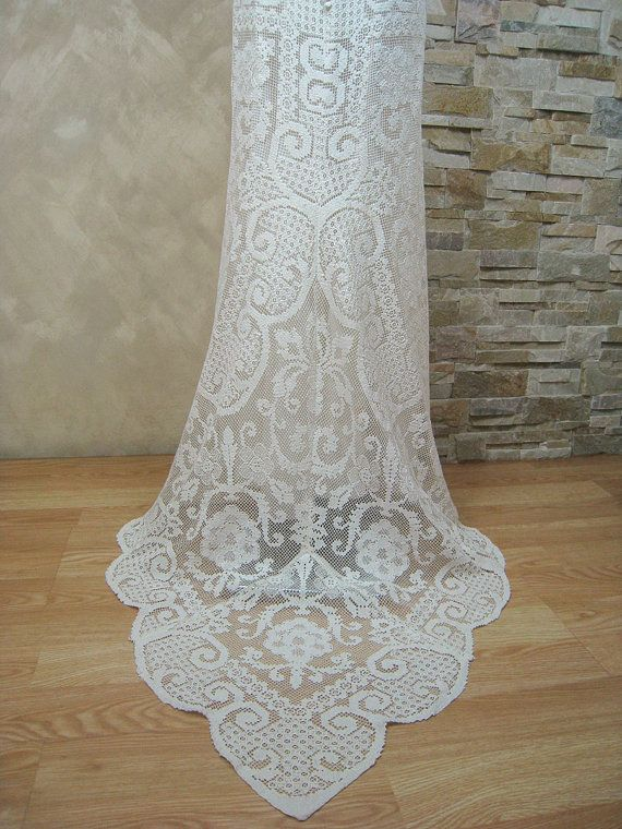 Exclusive ivory lace wedding dress bridal dress от LecrochetArt