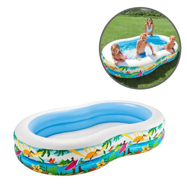 Kids Inflatable Swimming Pool Small Outdoor Baby Children Toy Fun Garden Patio  #SwimmingPool