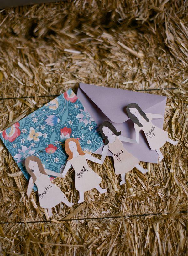 "bridesmaid cutouts -- perfect ""Will You Be My Bridesmaid?"" card! // photo by Kate Murphy"