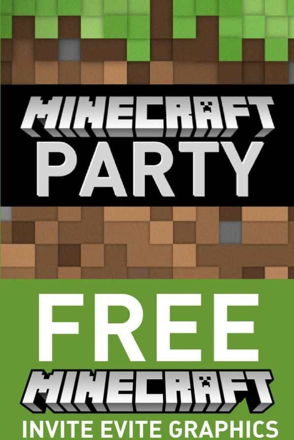 Digital Invitations Free Minecraft