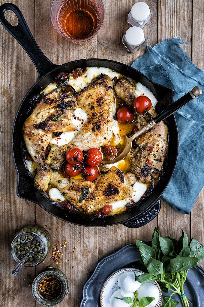 Combine pizza staples like pepperoni, melting mozzarella and tomato sauce with chicken in a skillet and you have a winning recipe!
