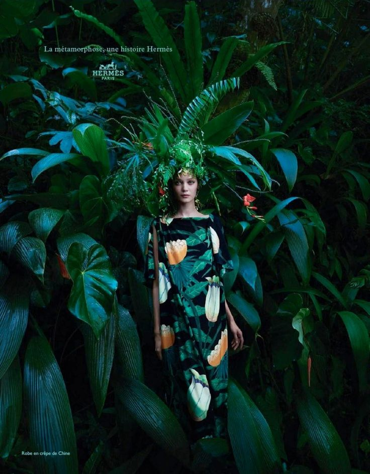 hermes spring 2014 campaign2 Diana Moldovan & Yumi Lambert Star in Hermès Spring/Summer 2014 Campaign