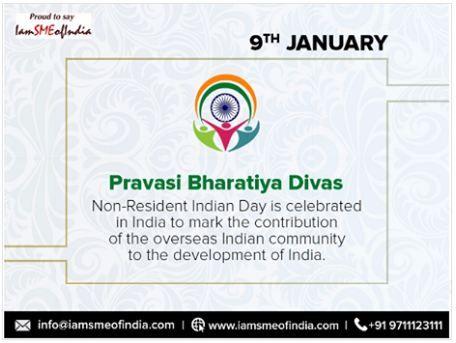 Happy #NRI DAy. #NRIDAYon9thjanuary #january #startups #iamsmeofindia #SME #MSMEs  www.iamsmeofindia.com #Nonresidentindianday