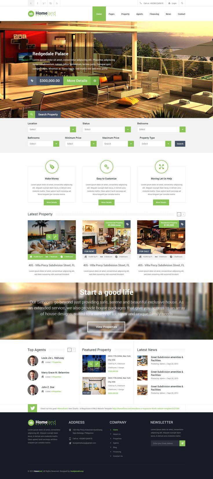 Very nice real estate web design.