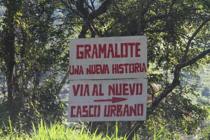 Letrero en Gramalote