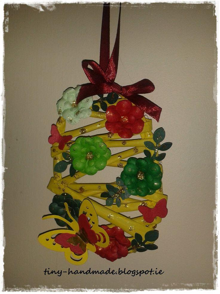 Kolejne jajo z wikliny papierowejblogu- Pomorskie Craftuje