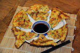 Koreaanse courgette pannenkoeken