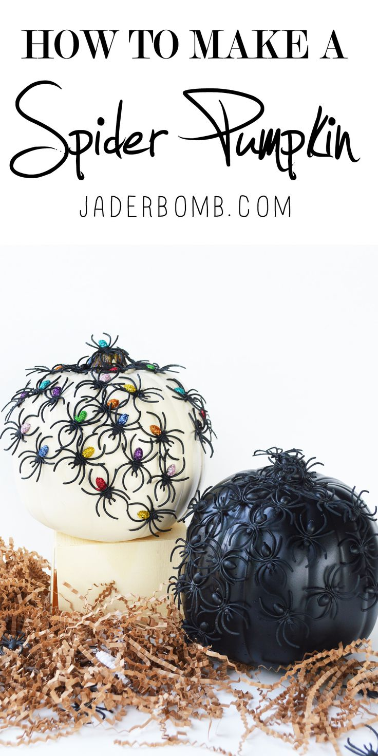 DIY Spider Pumpkin @michaelsstores #sweepstakes #trickyourpumpkin COME ENTER TO WIN A $250 GIFT CARD AND PRODUCTS FROM @plaidcrafts  VIA: www.jaderbomb.com