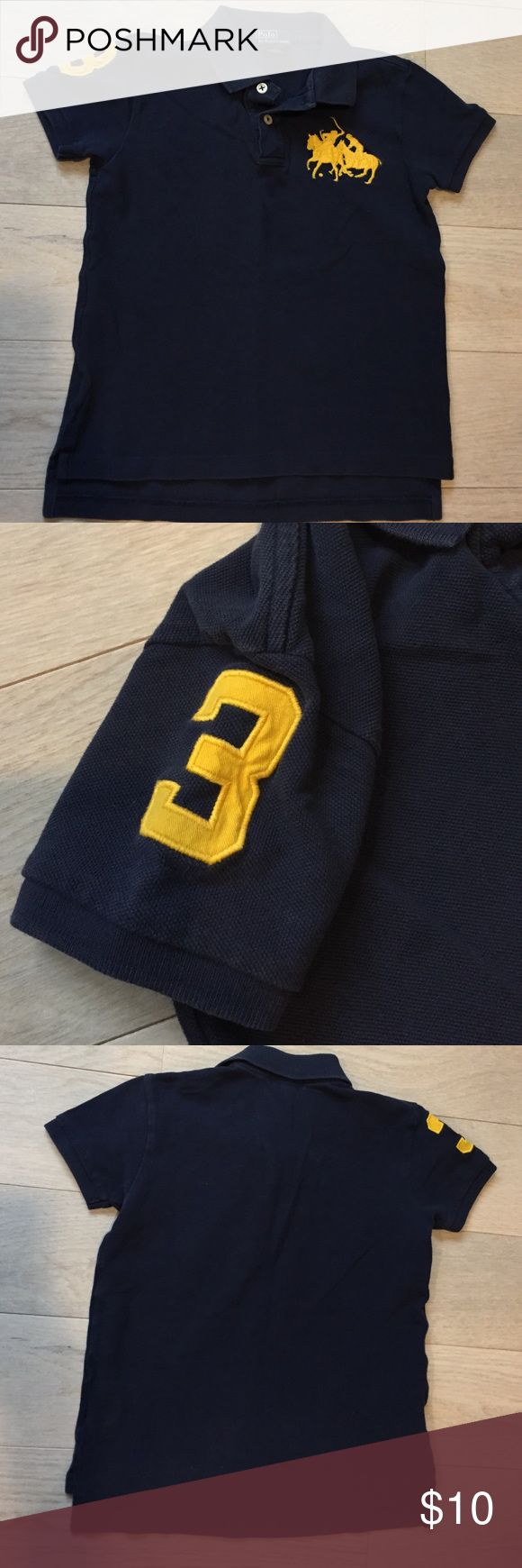 Polo by Ralph Lauren navy blue polo shirt.  Sz 6. Polo by Ralph Lauren navy blue polo shirt.  Sz 6. Polo by Ralph Lauren Shirts & Tops Polos