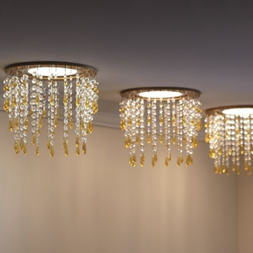 Beaded Recessed Light Cover from Midnight Velvet.   Even modern lights deserve a little glam treatment