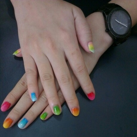 Rainbow and Ombre Nail Art
