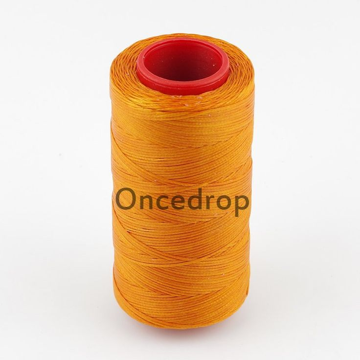 Orange 250 Meter 1mm Waxed Wax Thread Cord Sewing Craft for DIY Leather Hand Stitching 7