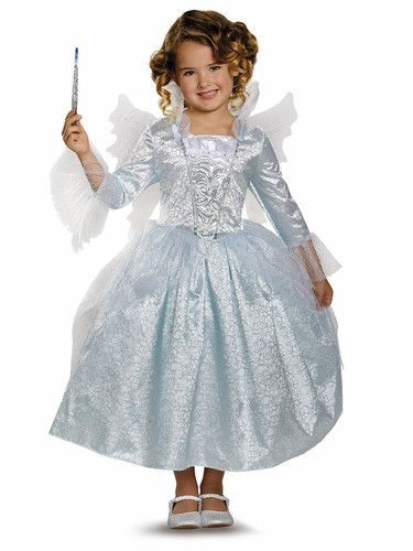 Description #87069 Make an enchanting entrance with this beautiful costume. Featuring a lovely, detailed gown and a set of matching fairy wings, this costume is just what you need to make Halloween ma