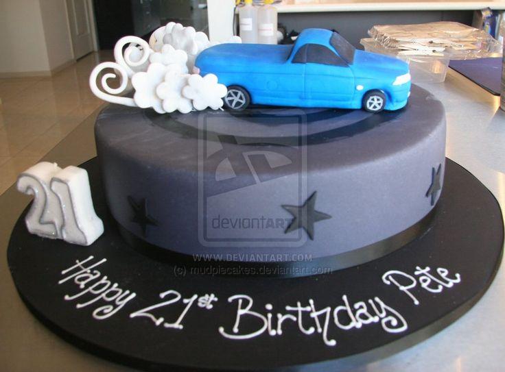Burnout Cake ♡ F Cakes ♡ Cake 21st Birthday Cake For