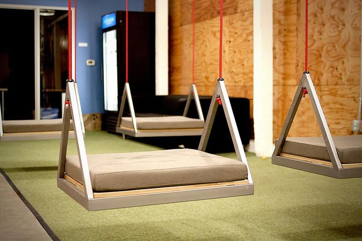 Swings in the office. Great way to free your mind. [office design + agency culture]
