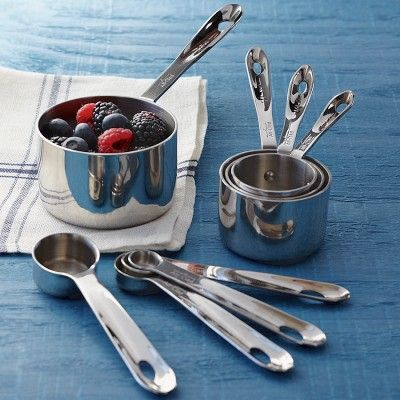WANT!! These babies are on my wish list! | All-Clad Stainless-Steel Measuring Cups & Spoons #WilliamsSonoma