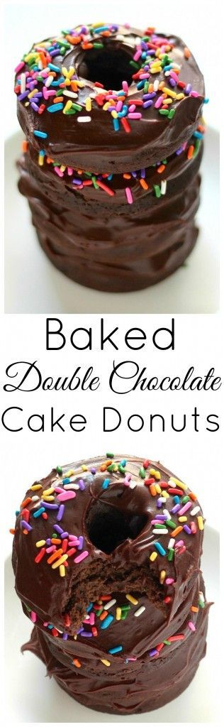 Double Chocolate Cake Donuts   Food And Cake Recipes