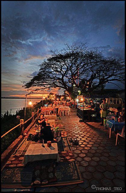 Mekong River, Vientiane - Laos.