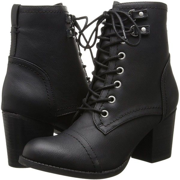Madden Girl Women's Westmont Combat Boot ($69) ❤ liked on Polyvore featuring shoes, boots, wide fit ankle boots, combat booties, madden girl boots, wide boots and wide ankle boots