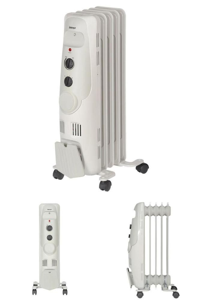 Electric Heater  Oil Free Column Radiator Portable Settings 1.2 kW - Grey Home