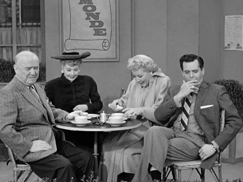 Still of Desi Arnaz, Lucille Ball, William Frawley and Vivian Vance in I Love Lucy (1951)