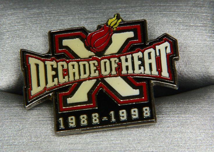 MIAMI HEAT 1988-1998 DECADE OF HEAT BASKETBALL HAT LAPEL PIN PINBACK